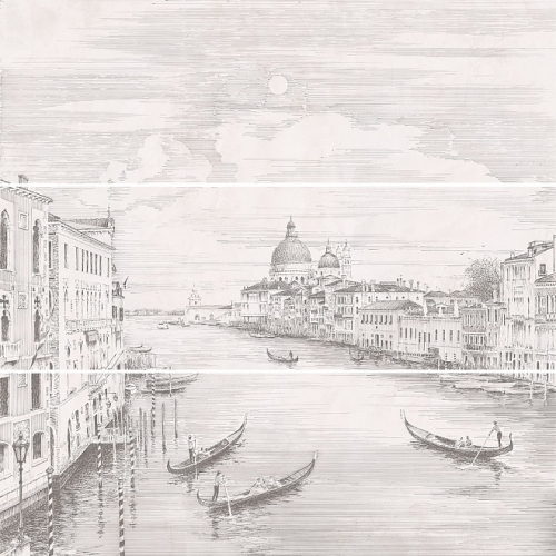 12109R/3x/3F| City on the water Venezia rectified panel
