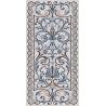 SG590902R| Mosaic blue decorated rectified