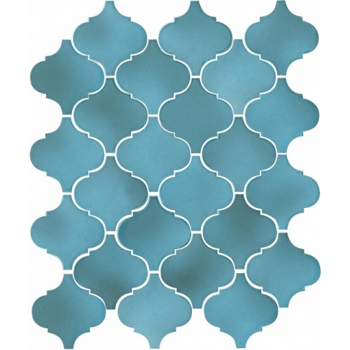 65005|Arabesques majolica light blue shiny akmens masės mozaika